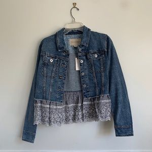 BRAND NEW Anthropology Jean Jacket